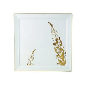 Bernardaud- Vegetal Gold Square Plate